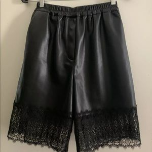 Self-portrait Faux Leather Shorts Size Small US 4
